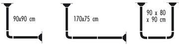 Карниз для ванной 170х75см универсальный, хром Spirella MAGIC-UNIVERSAL 1028497