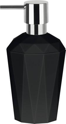 Ёмкость для жидкого мыла пластиковая чёрная Spirella CRYSTAL 1018131