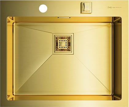 Кухонная мойка без крыла, нержавеющая сталь, золото Omoikiri Akisame 59-LG 4993082