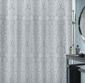 Штора для ванной комнаты 180x200см текстильная, серебристая Spirella FORTUNA 1017011