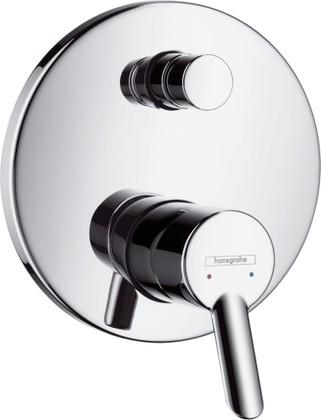 Смеситель для ванны однорычажный встраиваемый без встраиваемого механизма и без излива, хром Hansgrohe Focus S 31743000