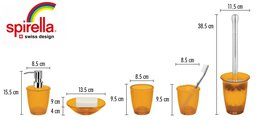Ёрш для туалета с оранжевой подставкой Spirella TORONTO 1010509