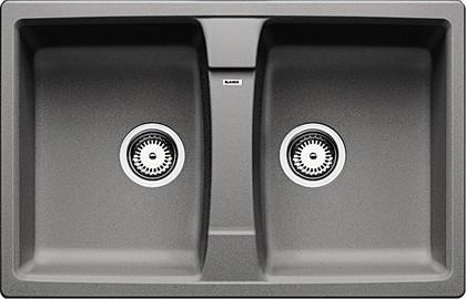 Кухонная мойка оборачиваемая без крыла, гранит, алюметаллик Blanco LEXA 8 514693