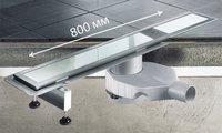 Душевой лоток 800мм из нержавеющей стали Viega Advantix Basic 655099