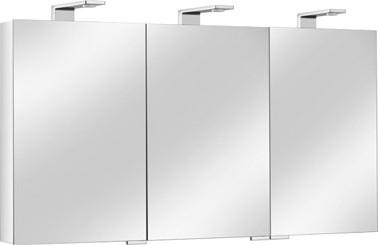 Зеркальный шкаф 130.0x75.2см с подсветкой трёхдверный Keuco ROYAL UNIVERSE 12705171301