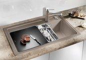 Кухонная мойка чаша справа, крыло слева, с клапаном-автоматом, гранит, шампань Blanco ZENAR 45 S 519257