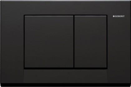 Кнопка пластиковая двойного смыва для инсталляции, чёрная Geberit BOLERO 115.777.DW.1