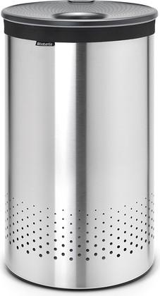 Бак для белья 60л стальной матовый с серой пластиковой крышкой Brabantia 105166