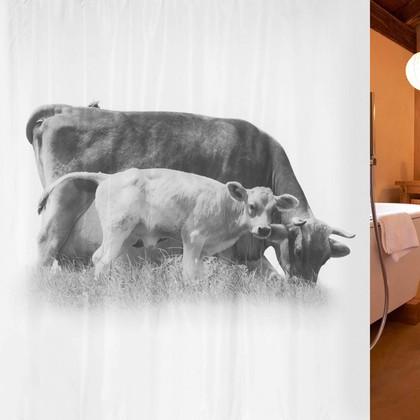 Штора для ванной комнаты 180x200см текстильная Spirella CALFY 1017897