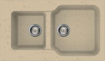 Кухонная мойка оборачиваемая без крыла, гранит, шампань Omoikiri Maru 86-2-CH 4993291