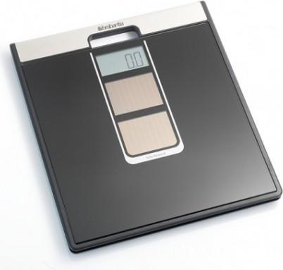 Весы на солнечных батареях чёрные 160кг/100гр Brabantia 481109
