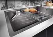 Кухонная мойка оборачиваемая с крылом, с клапаном-автоматом, гранит, белый Blanco ELON XL 6 S-F 519513