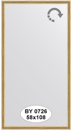 Зеркало 58x108см в багетной раме витое золото Evoform BY 0726