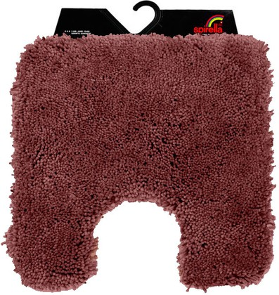 Коврик для туалета 55x55см коричневый Spirella HIGHLAND 1014188