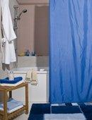 Штора для ванной комнаты 120x200см текстильная синяя Spirella ATLAS 4005720