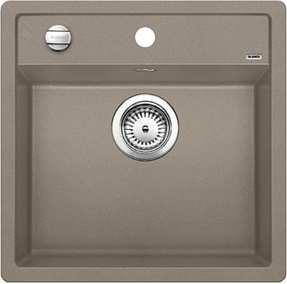 Кухонная мойка без крыла, с клапаном-автоматом, гранит, серый беж Blanco DALAGO 5 518528