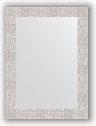 Зеркало в багетной раме 56x76см соты алюминий 70мм Evoform BY 3051