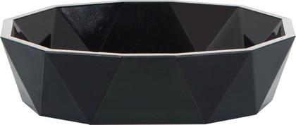 Мыльница пластиковая чёрная Spirella CRYSTAL 1018132