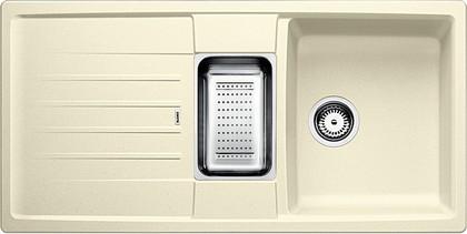 Кухонная мойка оборачиваемая с крылом, с клапаном-автоматом, коландером, гранит, жасмин Blanco LEXA 6 S 514671