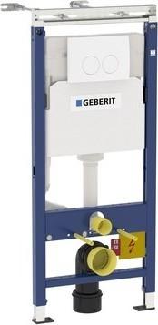 Инсталляция для подвесного унитаза, комплект c клавишей Delta21 Geberit Duofix Plattenbau 458.122.11.1
