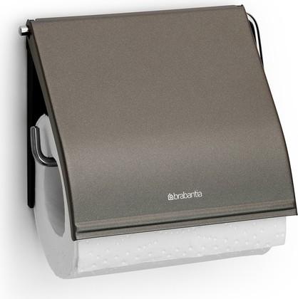 Держатель для туалетной бумаги с крышкой, платиновый Brabantia 477300