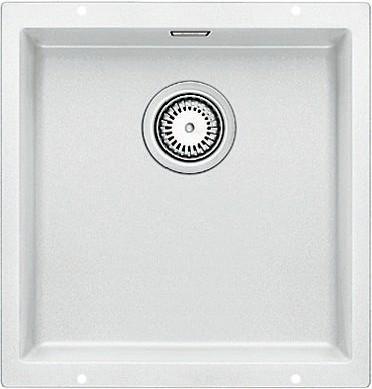 Кухонная мойка без крыла, с клапаном-автоматом, гранит, белый Blanco SUBLINE 400-U 515754