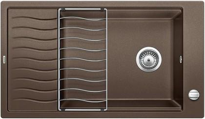 Кухонная мойка оборачиваемая с крылом и решеткой, гранит кофе Blanco ELON XL 8 S 520492