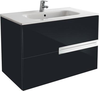 Тумба для умывальника подвесная чёрная, 78.6см Roca VICTORIA NORD Black Edition ZRU9000097