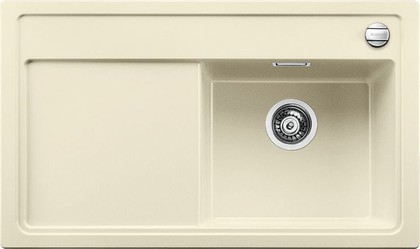Кухонная мойка чаша справа, крыло слева, с клапаном-автоматом, гранит, жасмин Blanco ZENAR 45 S-F 519295