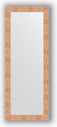 Зеркало в багетной раме 56x146см соты медь 70мм Evoform BY 3114