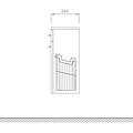 Шкаф средний подвесной, 1 ящик, 1 корзина, 35x34x80см Verona Moderna MD401