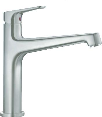 Смеситель кухонный однорычажный с высоким изливом, нержавеющая сталь Blanco FELISA 520325