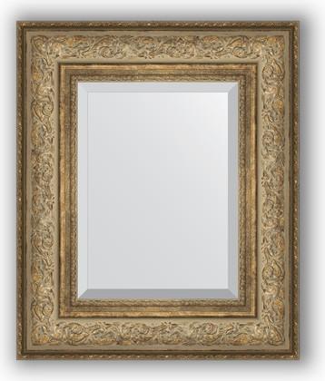 Зеркало с фацетом в багетной раме 50x60см виньетка античная бронза 109мм Evoform BY 3373