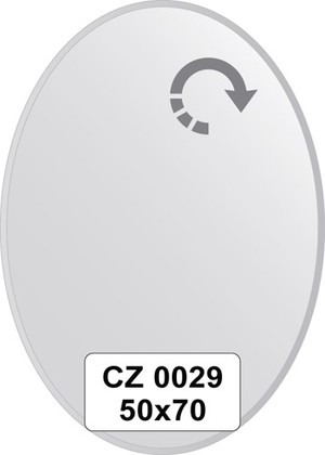 Зеркало для ванной 50x70см с фацетом 10мм FBS CZ 0029