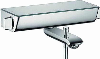"""Смеситель термостатический для ванны, внешний монтаж, с полочкой """"зеркальный хром"""" Hansgrohe Ecostat Select 13141000"""
