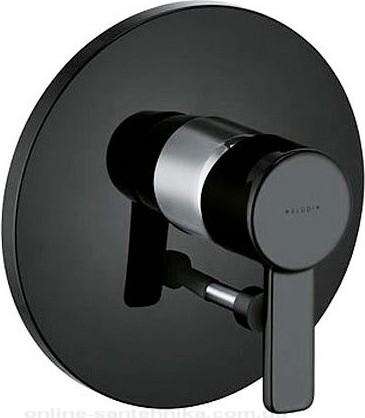 Смеситель для ванны однорычажный встраиваемый без излива, чёрный / хром Kludi ZENTA 386508675