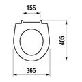 Сиденье для унитаза с системой плавного опускания Jika LYRA PLUS 933813000009