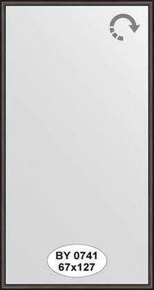 Зеркало 67x127см в багетной раме махагон Evoform BY 0741