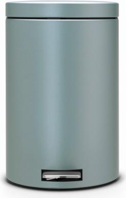 Мусорный бак с педалью 20л, мятный металлик Brabantia 106040