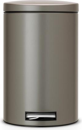 Ведро для мусора 12л с педалью, MotionControl, платиновое Brabantia 478086