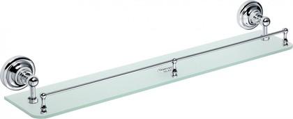 Полка стеклянная с бортиком 600мм, хром, Bemeta 144302262