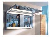 Зеркальный шкаф 125x65см с поднимающейся дверцей и подсветкой Keuco EDITION 300 30202171201