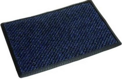 Коврик придверный 40x60см промежуточный синий, полипропилен Golze RIB LINE BORDER 480-15-20