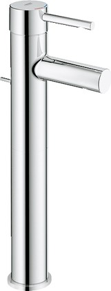 Смеситель для свободностоящих раковин однорычажный с донным клапаном, хром Grohe ESSENCE 32901000