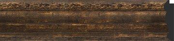 Зеркало с фацетом в багетной раме 62x82см состаренное дерево с орнаментом 120мм Evoform BY 3404
