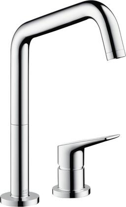 Смеситель для кухни на 2 отверстия однорычажный с выдвижным изливом, хром Hansgrohe AXOR Citterio M 34820000