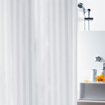 Штора для ванны 180x200см текстильная белая Spirella MAGI SATIN 1011134