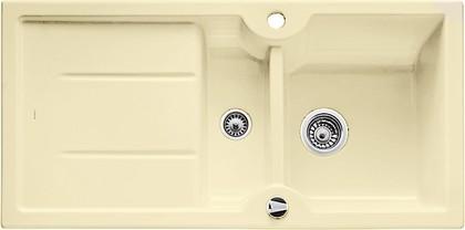 Кухонная мойка оборачиваемая с крылом, с клапаном-автоматом, керамика, ваниль Blanco IDESSA 6 S 516003