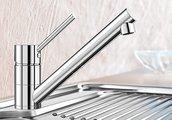 Компактный однорычажный смеситель для кухонной мойки, хром Blanco ANTAS 515337