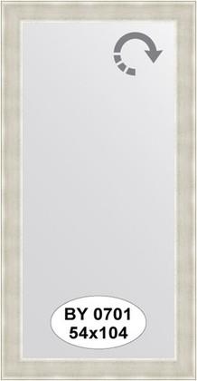 Зеркало 54x104см в багетной раме травлёное серебро Evoform BY 0701